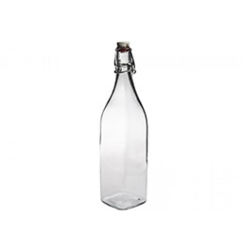 Бутылка сервировочная 1 л с замком, стекло