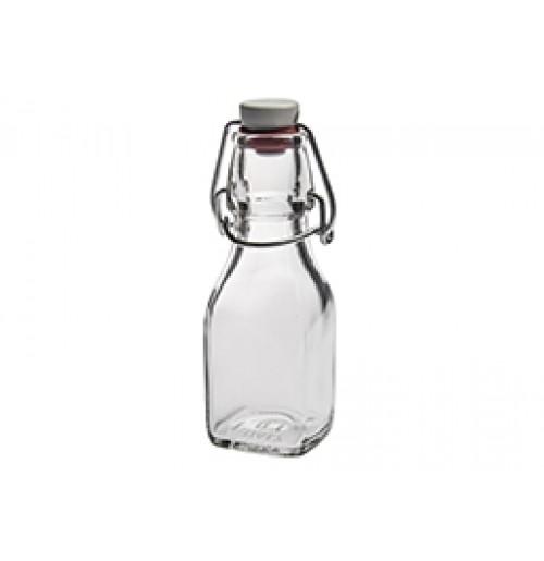 Бутылка сервировочная 125 мл с замком, стекло