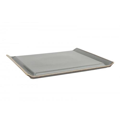 Плато для стейка Seasons темно-серый, фарфор 32х26 см