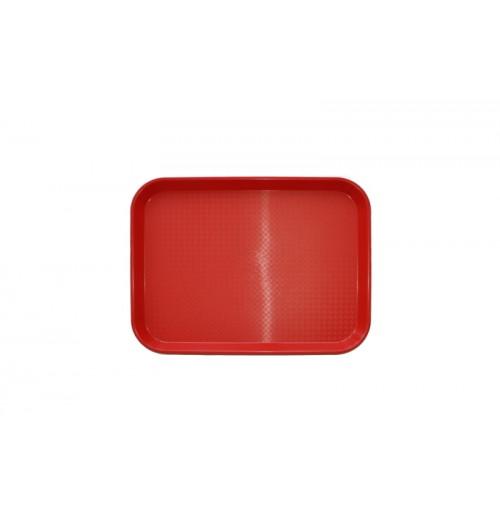 Поднос 34,5*26,5 см красный, полипропилен