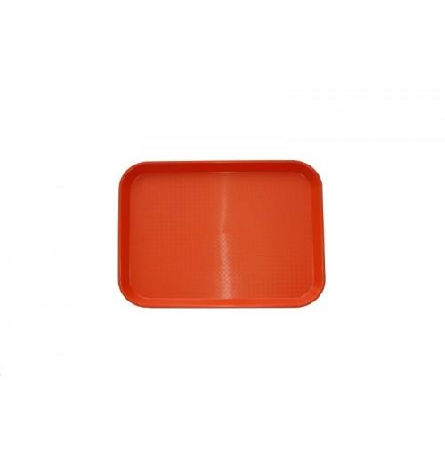 Поднос 34,5*26,5 см оранжевый, полипропилен