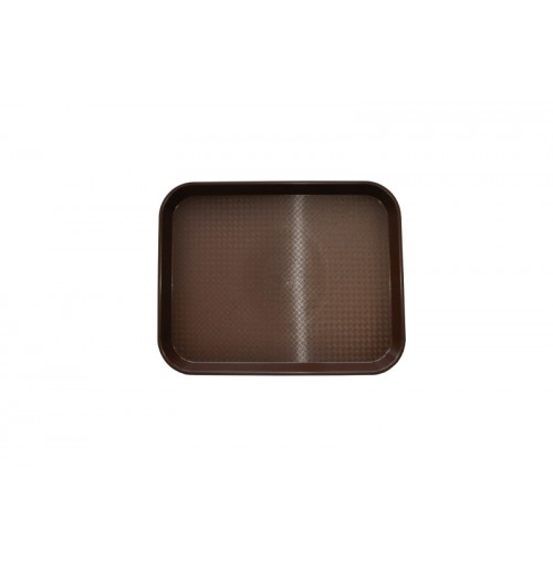 Поднос 34,5*26,5 см темно-коричневый, полипропилен
