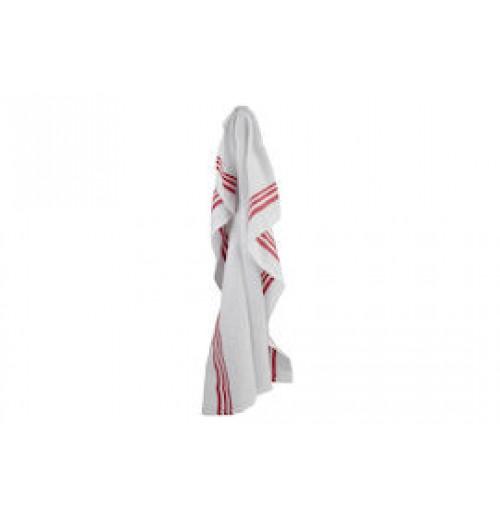 Полотенце кухонное/салфетка официанта с красными полосками, эко-текстиль