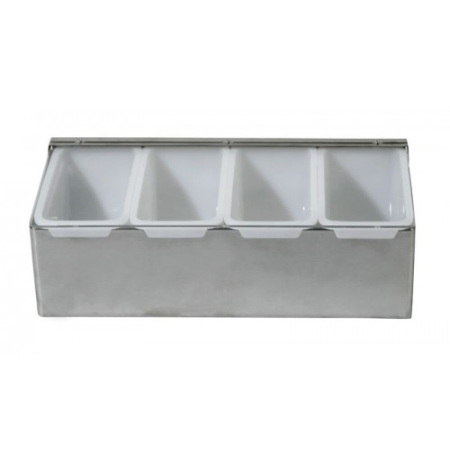 Диспенсер барный на 4 ячейки, нержавеющая сталь и пластик
