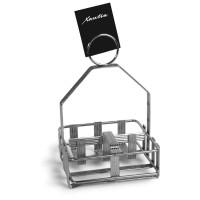Подставка для приправ и салфеток, нержавеющая сталь
