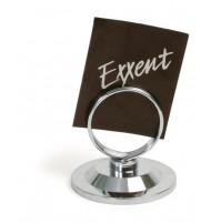 Подставка под меню с кольцом, нержавеющая сталь