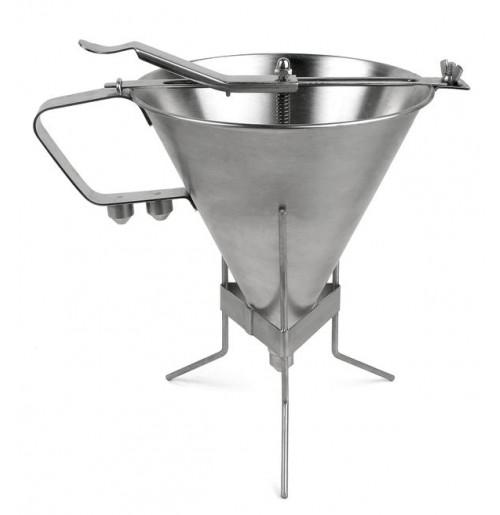 Порционник для соуса на подставке с 3-мя насадками, нержавеющая сталь