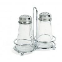 Набор для соли и перца, стекло и нержавеющая сталь