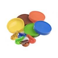Набор крышек и гейзеров маркировочных для бутылок 5 цветов, пластик
