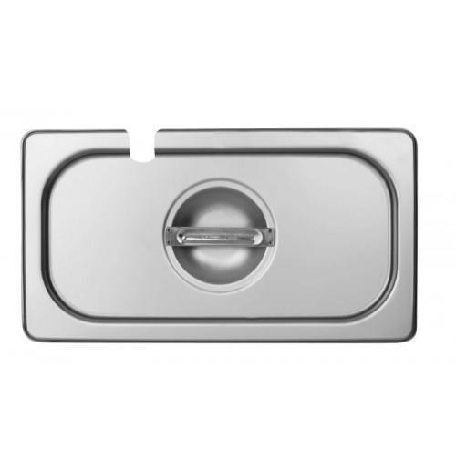 Крышка с выемкой под ложку 1/3, нержавеющая сталь 2.0