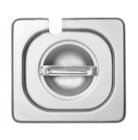 Крышка с выемкой под ложку 1/6, нержавеющая сталь 2.0