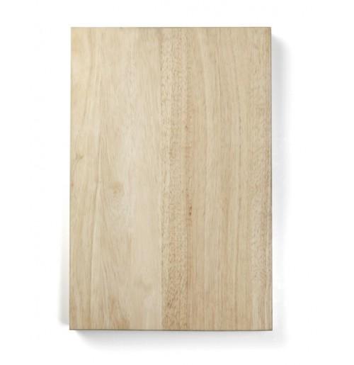 Доска деревянная разделочная 45х30 см, каучуковое дерево