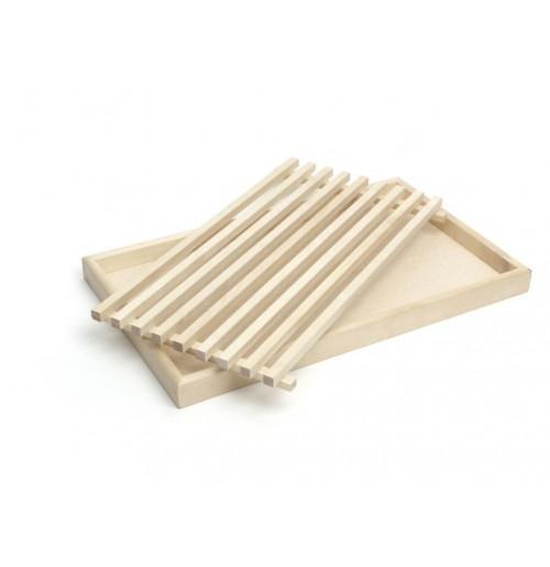 Доска для хлеба с поддоном для крошек 50х30 см, береза