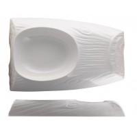 Блюдо Oyster 30х20 см (внутренний размер 17х14см), 450 мл, шпатовый фарфор