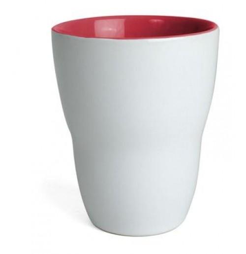 Кружка Eos 250 мл белая/красная, керамика