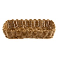 Корзина для столовых приборов 26.5x10 см коричневая, полипропилен