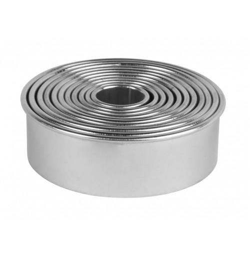 Набор форм круглых гладких,11 шт., 2.0-3.0-3.5-4.0-5.0-5.5-6.0-7.0-7.5-8.0-9.0, нержавеющая сталь
