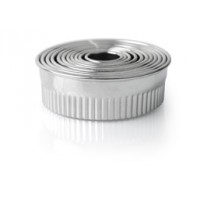 Набор форм круглых рифленых 11 шт., 2.2-3.0-3.5-4.0-5.0-5.5-6.0-7.0-7.5-8.0-9.0, нержавеющая сталь