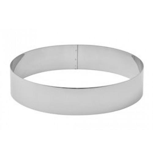 Кольцо кондитерское для выпечки и формовки 24 см, нержавеющая сталь