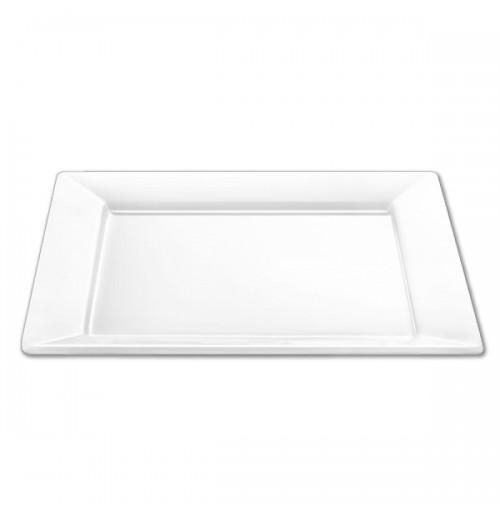 Блюдо-тарелка 29х29 см, шпатовый фарфор