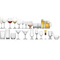 Набор из 55 предметов: бокалы, креманки, рюмки, стаканы, стекло