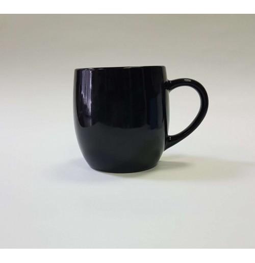 Кружка-бочонок 400 мл черная, керамика