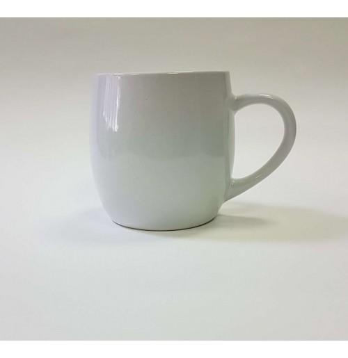 Кружка-бочонок 400 мл белая, керамика