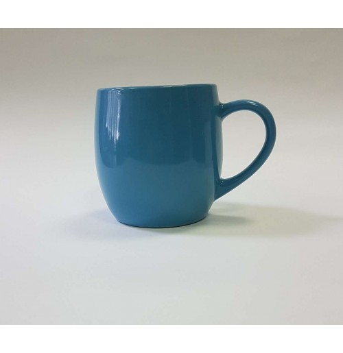 Кружка-бочонок 400 мл голубая, керамика