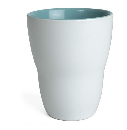 Кружка Eos 250 мл белая/бирюза, керамика