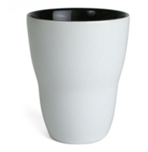 Кружка Eos 250 мл белая/черная, керамика