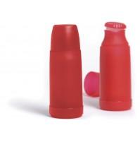 Термос 0.5 л красный, корпус - пластик и колба - стекло