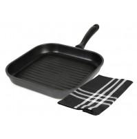 Набор: сковорода-гриль 28х28 см с антипригарным покрытием 28 см и полотенце
