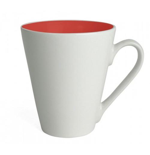 Кружка Attila 200 мл белая/красная, керамика