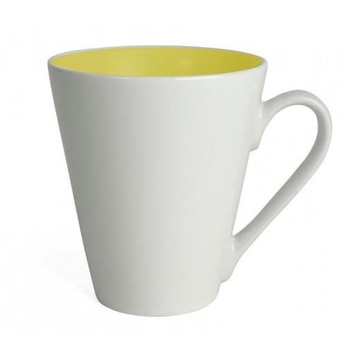Кружка Attila 200 мл белая/желтая, керамика