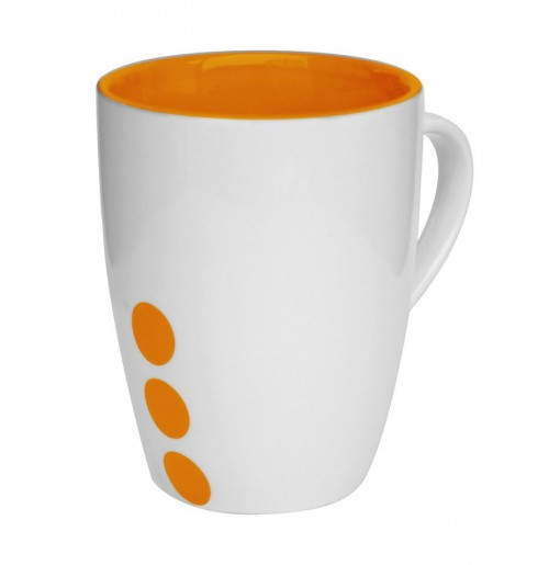 Кружка Prick 300 мл оранжевая, керамика