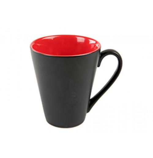 Кружка Attila 200 мл черная матовая /красная глянцевая, керамика