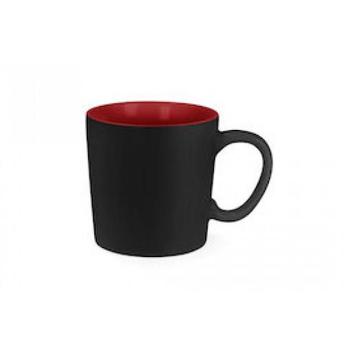 Кружка Aurora 250 мл чёрная/красная, керамика