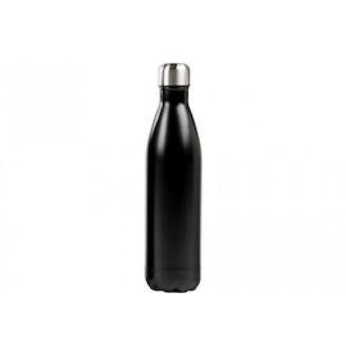Бутылка-термос 0.75 л черная, нержавеющая сталь