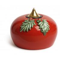 Лампа масляная красная с листьями в наборе с двумя картриджами, керамика