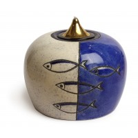 """Лампа масляная """"Рыбы"""" в наборе с двумя картриджами, керамика"""