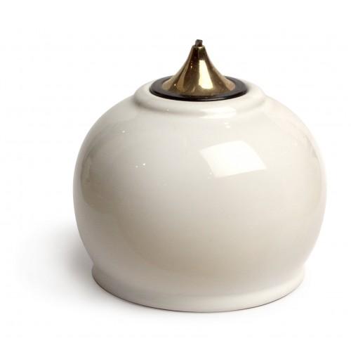 Лампа масляная белая в наборе с двумя картриджами
