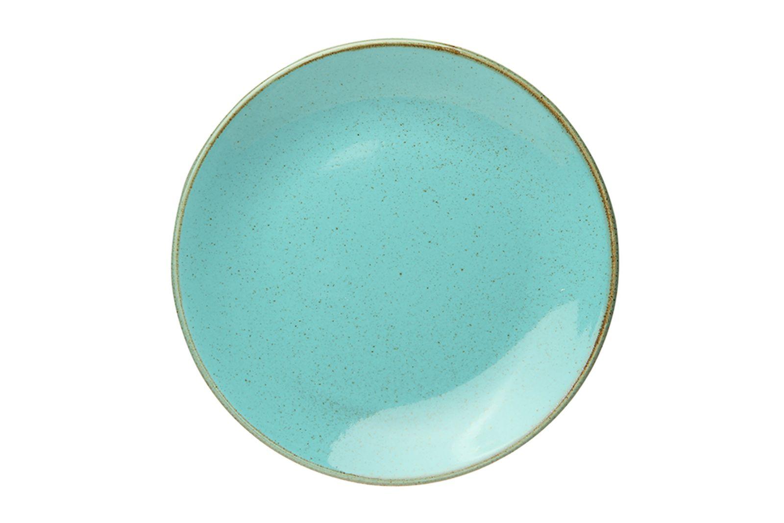 Тарелка 24 см Seasons бирюзовая, фарфор