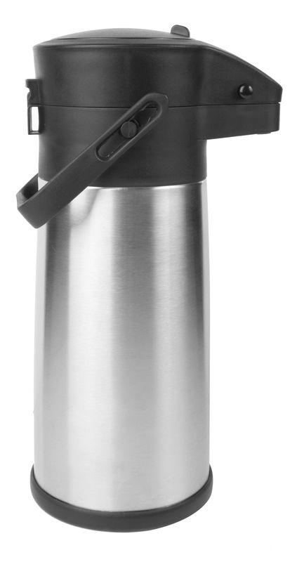 Термос с помпой 2.2 литра, корпус и колба - нержавеющая сталь