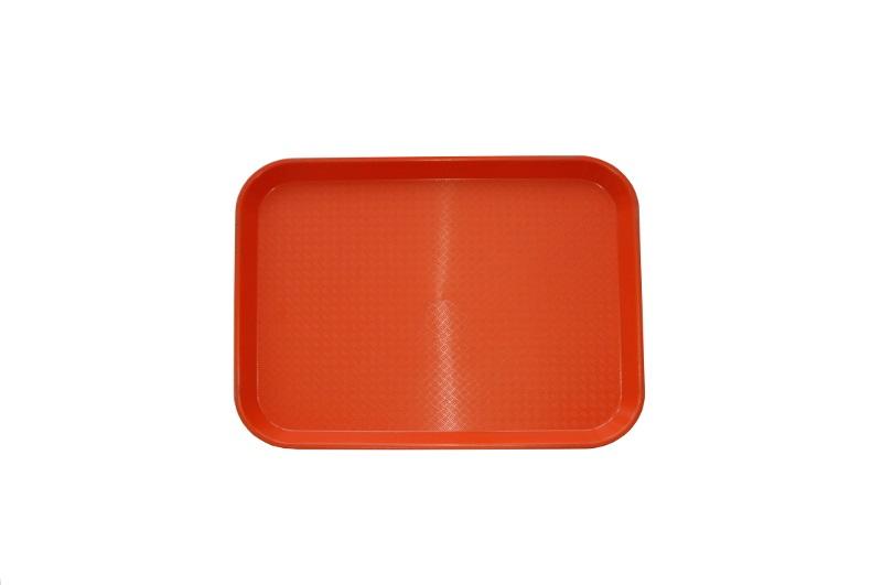 Поднос 34.5х26.5 см оранжевый, полипропилен