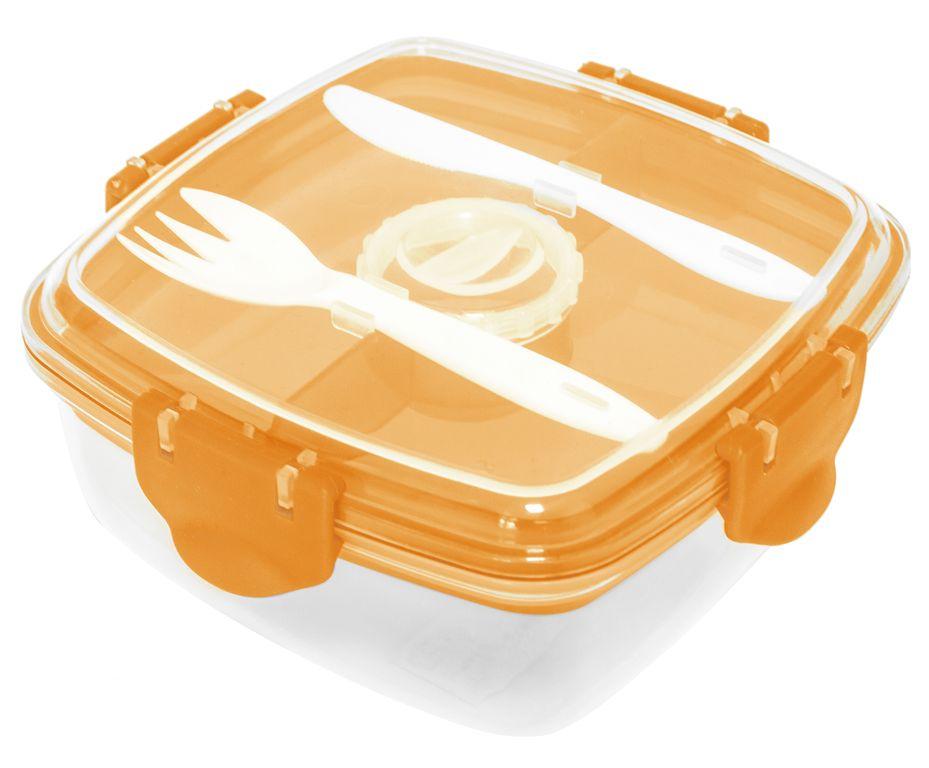 Контейнер пищевой оранжевый, пластик
