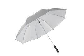 Зонт-трость противоштормовой механический со светоотражающим эффектом, полиэстер